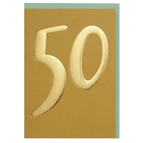 Luxury golden age 50 Birthday Greeting Card - RBL021