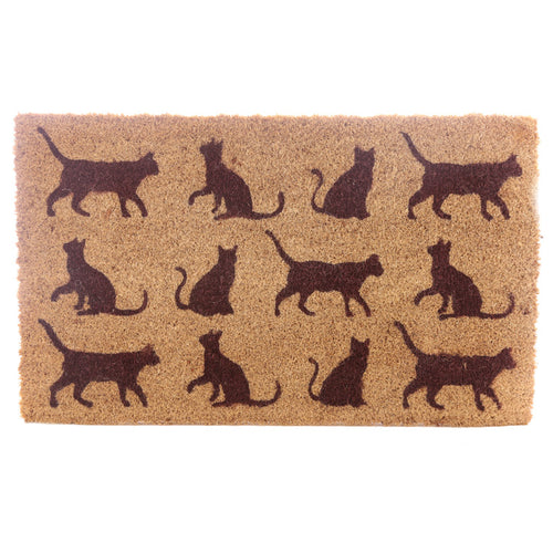 Coir Door Mat - Cats