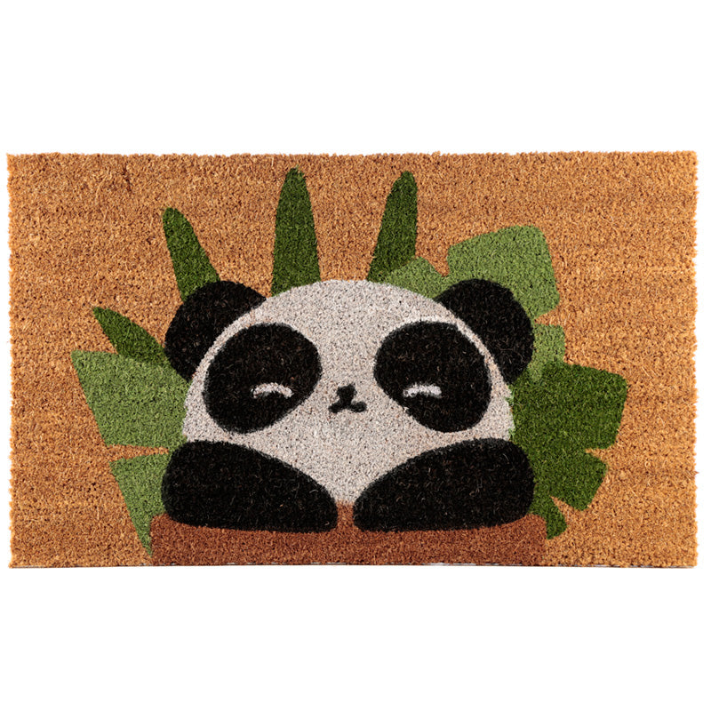 Coir Door Mat - Panda Design