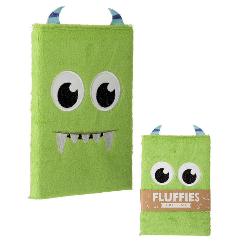 Fluffy Plush Notebook - Monster Design - Miss Pretty London UK Limited