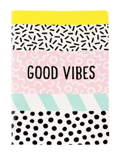 MEMPHIS MODERN GOOD VIBES A5 NOTEBOOK