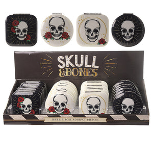 Fun Collectable Skull and Rose Design Compact Mirror