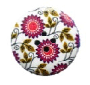 Maroon_Sunflower_Round_Buttons_-_Pack_of_3