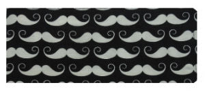 Moustaches Print Chequebook Wallet