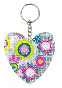 Multicoloured_Retro_Print_Heart_Keyring