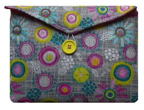 Multicoloured Retro Print Tablet Bag