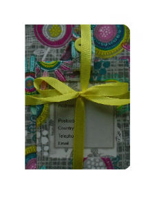 Multicoloured Retro Print Passport Cover and Luggage Tag Gift Set