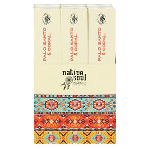 NATIVE SOUL COPAL & PALO SANTO INCENSE STICKS