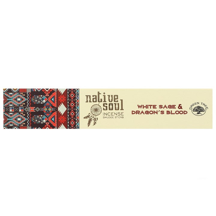 NATIVE SOUL WHITE SAGE & DRAGON'S BLOOD INCENSE STICKS