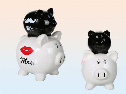 Double Piggy Bank Mr. And Mrs.