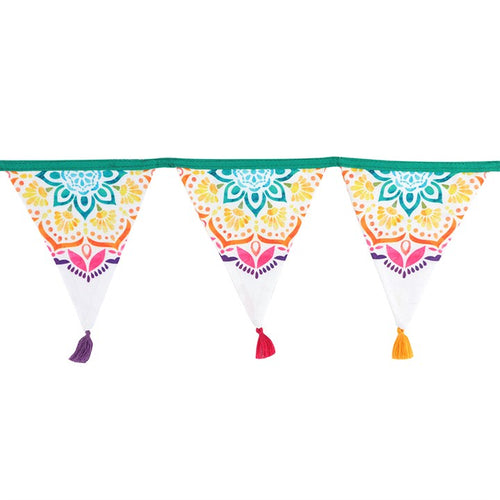PEACE OUT MANDALA FABRIC BUNTING - Miss Pretty London UK Limited