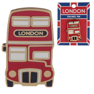 Novelty London Bus Design Enamel Pin Badge