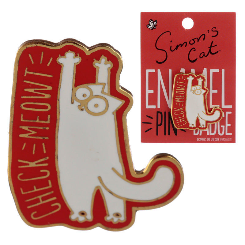 Novelty Simon's Cat Design Enamel Pin Badge