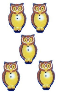 Brown_Owl_Buttons_-_Pack_of_5