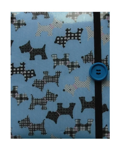 Pale Blue Scottie Dogs Print E-Reader Case - Miss Pretty London UK Limited