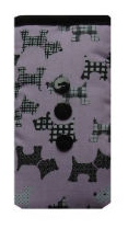 Pale Pink Scottie Dogs Print Mobile Phone Sock Pouch - Miss Pretty London UK Limited
