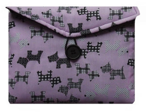 Pale Pink Scottie Dogs Print Tablet Bag - Miss Pretty London UK Limited