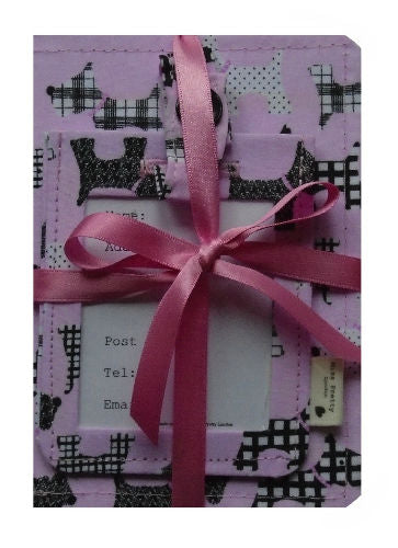 Pale Pink Scottie Dogs Print Passport Cover and Luggage Tag Gift Set - Miss Pretty London UK Limited