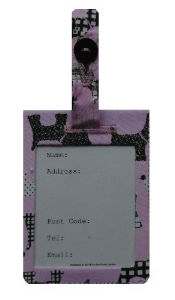 Pale Pink Scottie Dogs Print Luggage Identity Bag Tag - Miss Pretty London UK Limited