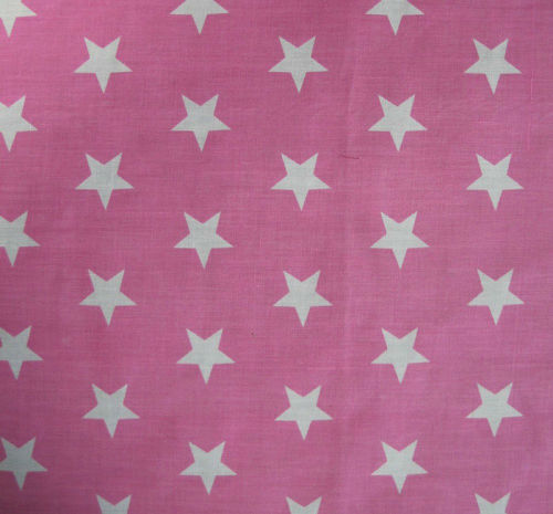 Large_Pale_Pink_Stars_Print_PolyCotton_Fabric