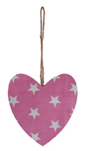 Large_Pink_Stars_Print_Plump_Fabric_Hanging_Heart