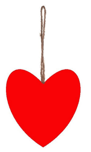 Plain_Red_Plump_Fabric_Hanging_Heart