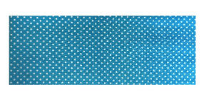 Powder Blue Polka Dot Print Chequebook Wallet