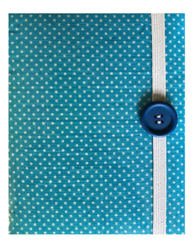 Powder Blue Polka Dot Print E-Reader Case