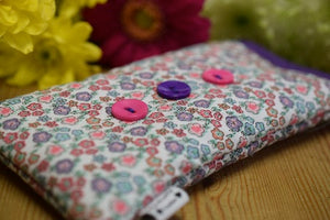 Ditsy Flowers Print Mobile Phone Sock Pouch - Miss Pretty London UK Limited