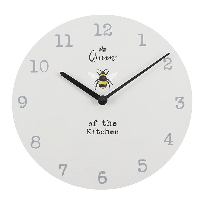 QUEEN OF THE KITCHEN WALL CLOCK