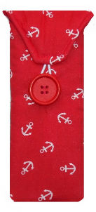 Red Anchors Print Glasses Case - Miss Pretty London UK Limited