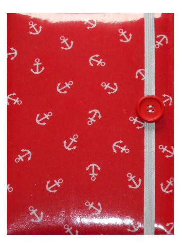 Red Anchor Print E-Reader Case - Miss Pretty London UK Limited