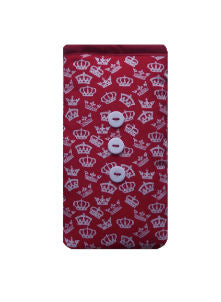 Red British Crowns Print Mobile Phone Sock Pouch - Miss Pretty London UK Limited