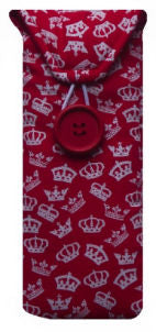 Red British Crowns Print Glasses Case - Miss Pretty London UK Limited