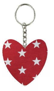 Large_Red_Stars_Print_Fabric_Heart_Keyring