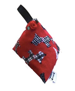 Red Scottie Dogs Print Lavender Bag