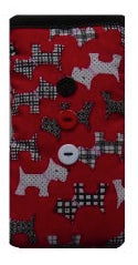 Red Scottie Dogs Print Mobile Phone Sock Pouch - Miss Pretty London UK Limited