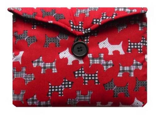 Red Scottie Dogs Print Tablet Bag - Miss Pretty London UK Limited