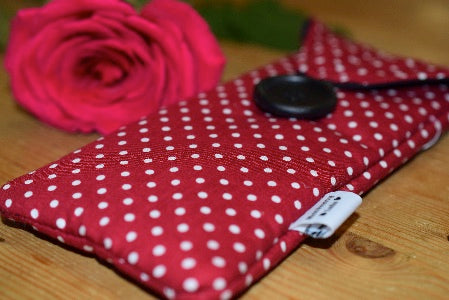 Red Polka Dot Print Glasses Case - Miss Pretty London UK Limited