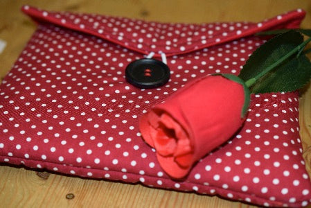 Small Red Polka Dot Print Tablet Bag - Miss Pretty London UK Limited