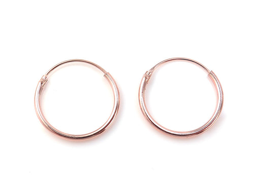 Rose Gold Plated Sterling Silver Hoop