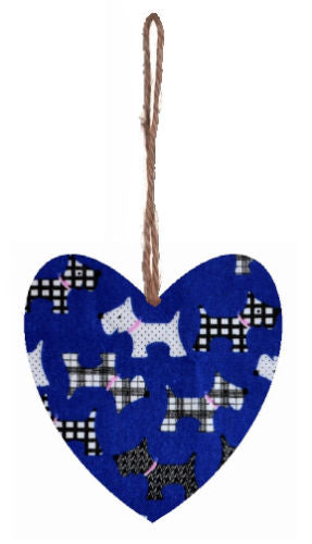 Royal_Blue_Dog_Print_Hanging_Heart