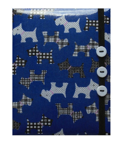 Royal Blue Scottie Dogs Print E-Reader Case - Miss Pretty London UK Limited