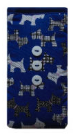 Royal Blue Scottie Dogs Print Mobile Phone Sock Pouch - Miss Pretty London UK Limited