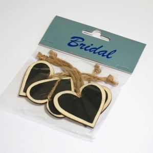 Wooden Heart With Blackboard x 5