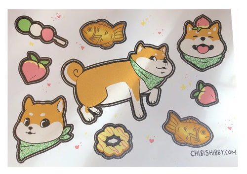 Shibu Dog Stickers