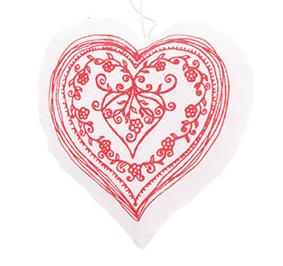 Red Blossom Hanging Heart Decoration - Miss Pretty London UK Limited