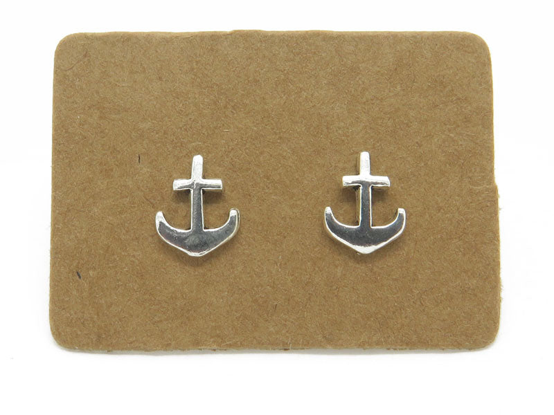 STERLING SILVER ANCHOR EAR STUDS- mpl017
