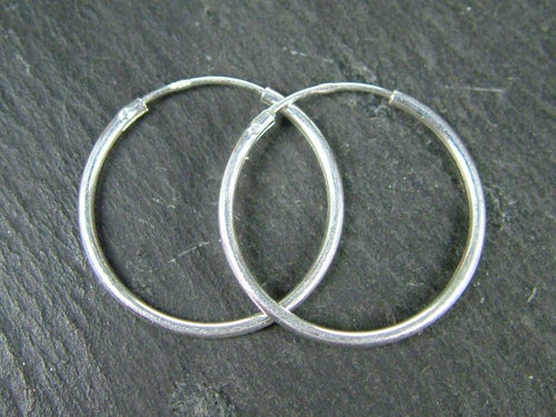 STERLING SILVER EARRING HOOP 20MM  - MPLH78