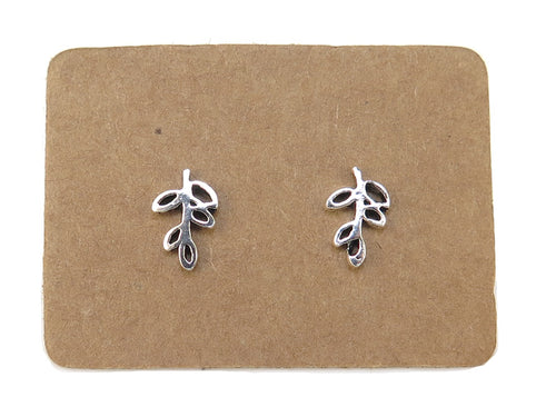 STERLING SILVER LITTLE BRANCH EAR STUDS